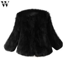 Womail Women Faux Fur Coat Soft Fur Coat Jacket Fluffy Winter Waistcoat Outerwear Femme Vest Long Coats OT31