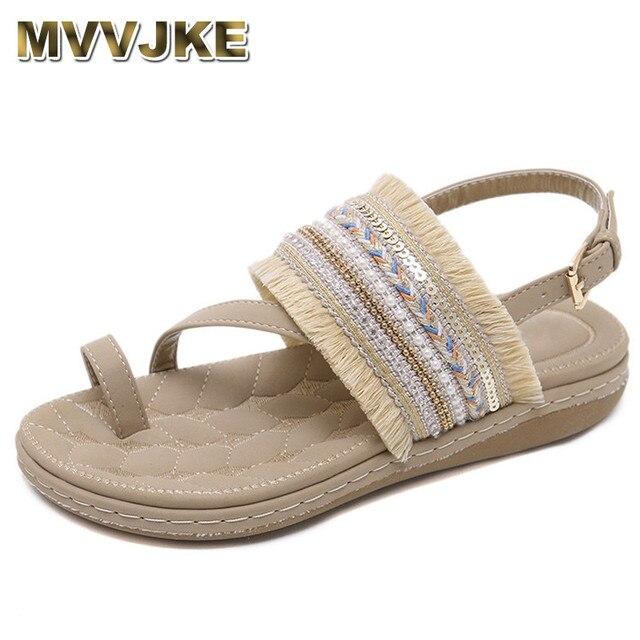 Mujer Mvvjke 2018 35 Talla 42 Playa Gladiador Zapatos Mujeres Sandalias Borla Bohemia Flip Verano Grande De Flop Las SqVMGUzp