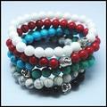 2015 new fashion jade stone bracelets for men's women's jewelry buddha vintage bracelets wholesale price size 8mm