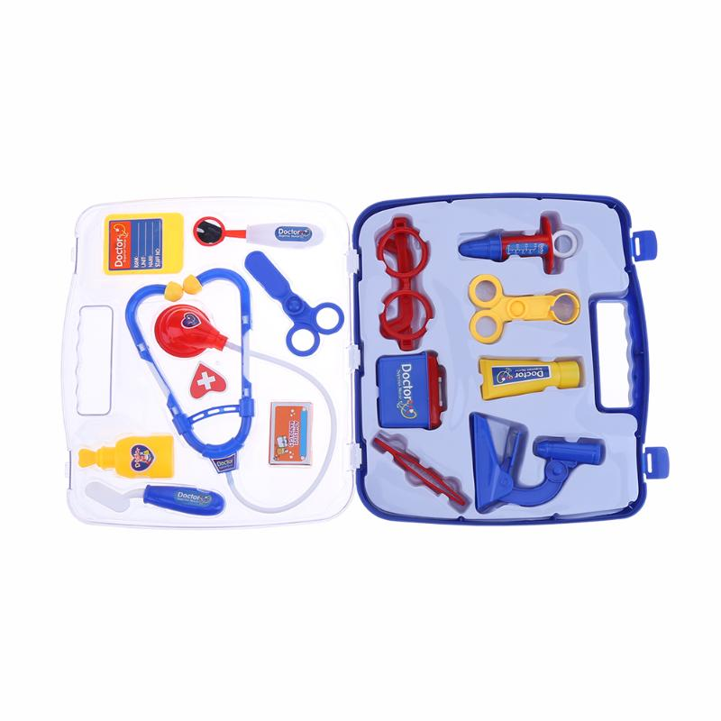 Kids Plastic Doctor Pretend Play Toys Medical Tool Box Kit Doctor Nurse Roleplay Set Baby Educational Tool Cosplay Set