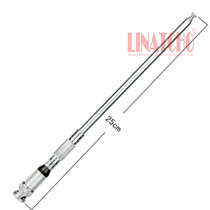 Image 1 - VHF 136 174mhz walkie talkie bendable metal 1 meter long telescopic antenna bnc male connector