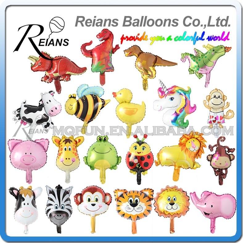 Ev ve Bahçe'ten Balonlar ve Aksesuarları'de Toptan 400 adet Mini Hayvan Kafa Balon Karikatür Şekli Hayvan Alüminyum Oyuncak ve dekorasyon balonu Çocuk Hediyeler Için globos'da  Grup 1