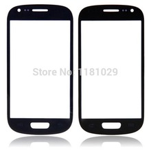 Free Ship 10pcs/lot White Black Front Glass Lens For Samsung Galaxy S3 i9300 With Logo Outer Screen Glass High Quality Brand New