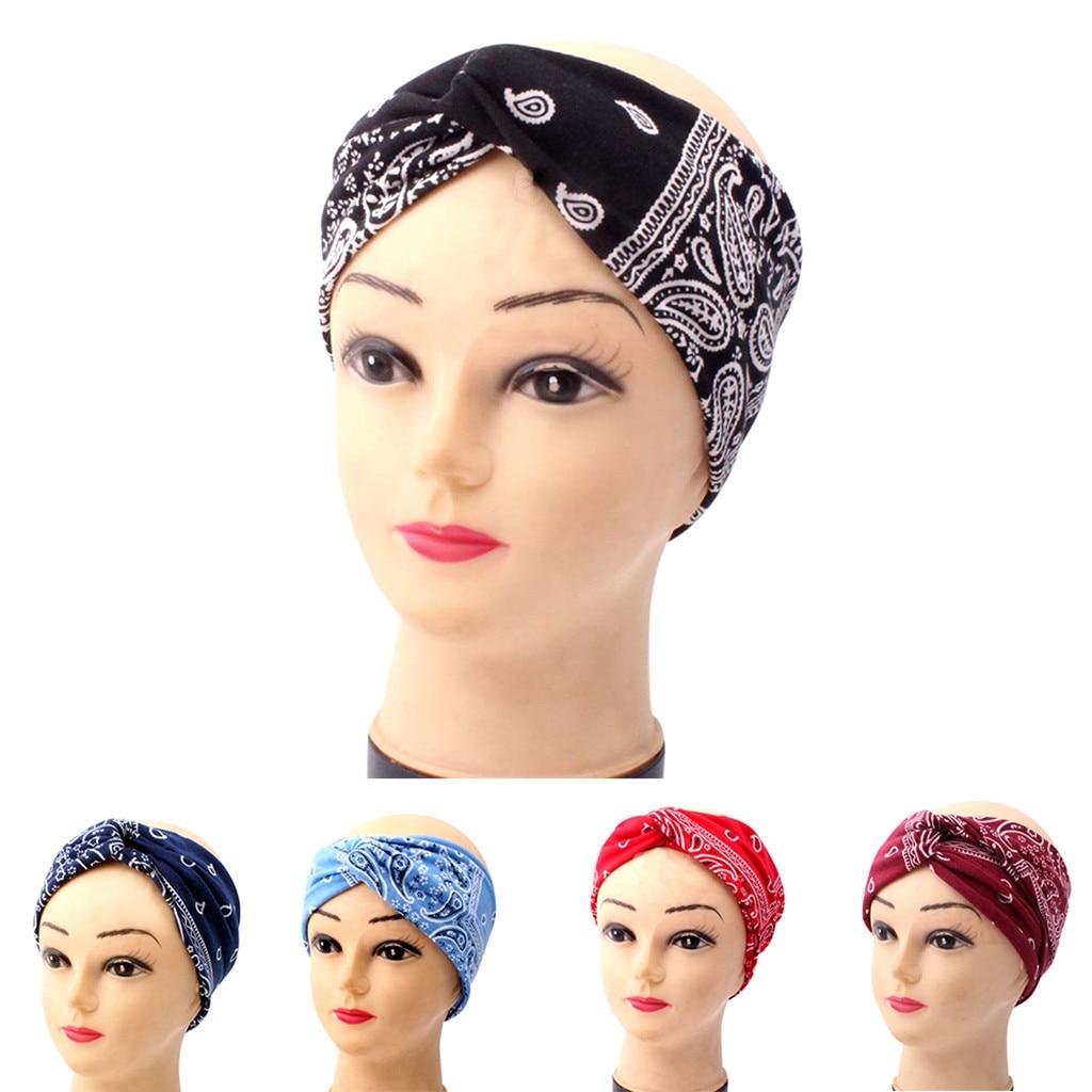 Womens Bandana Headwear Headband Crazy Aqua And Red Elegant