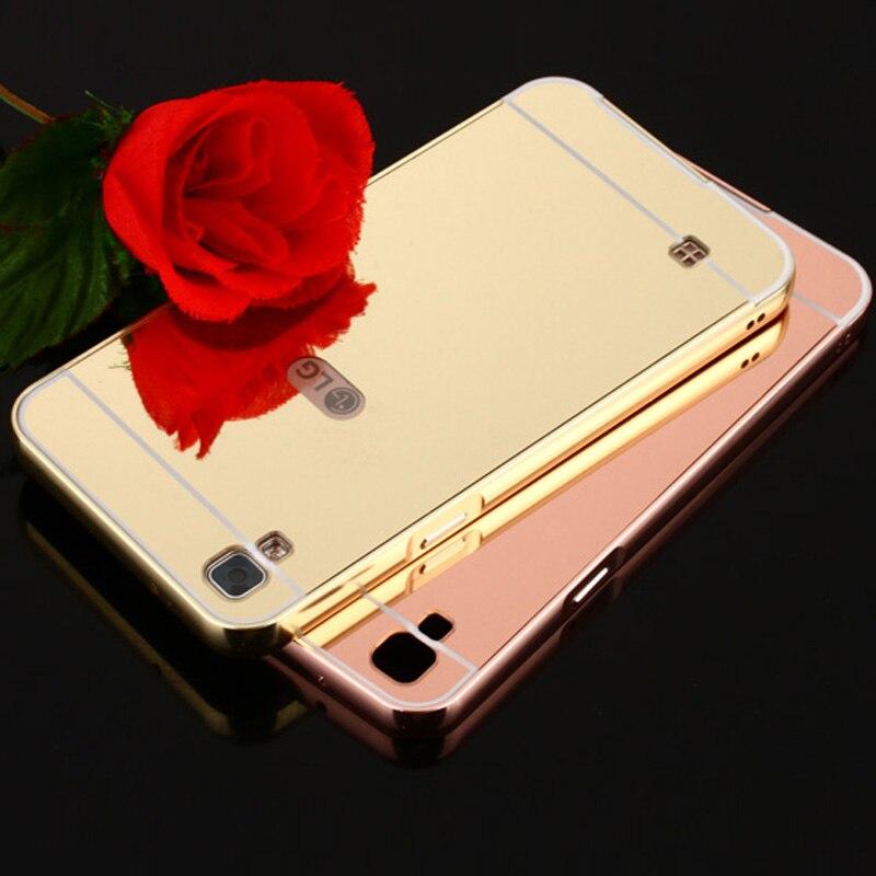 Funda para LG X Power funda de aluminio para teléfono con marco de Metal acrílico para LG K220ds funda parachoques XPower Coque Fundas