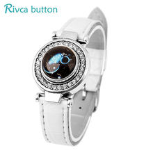 Rivca Snap Button Jewelry Ancient Silver Plating 18mm Snap Button Bracelet&Bangles Charm Leather Bracelet For Woman P01151(China)