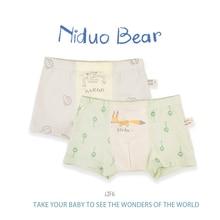 Niduo Bear 2pcs Baby boy underwear cartoon cotton childrens boxer boys boxers shorts