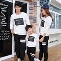Crianças outono de 2017 novos Coreano mãe filha família casal uma criança pai-filho de manga comprida terno em nome de