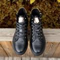 Мужчины Повседневная Обувь Brand New 2016 Осень Зима Сапоги Мужчин Черный корова Кожа Молния Высокие Верхние Ботинки Зимние Ботинки Botas