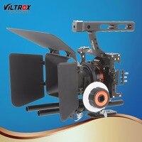 Viltrox VX 11 видео Камера клетка Камера стабилизатор и Следуйте Фокус Matte Box для sony A9 A6500 A7III A7R DSLR с холодный башмак