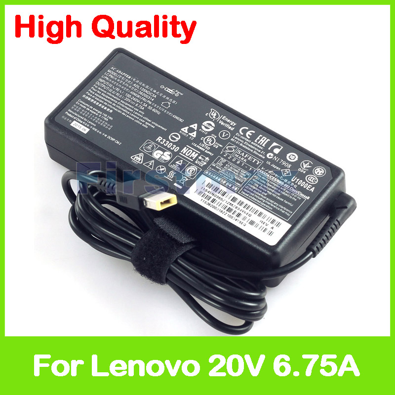 Slim 20V 6.75A laptop charger ac power adapter for Lenovo Y50c Y50p Y700-14ISK ADL135NLC3A 45N0367 PA-1131-72 45N0368 45N0502