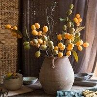 5 Pcs/Lot Artificial Hazelnut Branches Decorative Fruit Fake Plants
