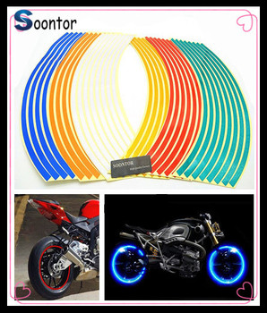 2018 Strip Motorcycle Wheel Sticker Reflective Decal Rim Tape for BMW K1200S K1300 S/R/GT S1000RR HONDA CBR125R CRF250R image