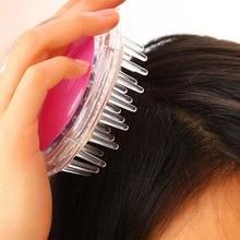 New Silicone Shampoo Scalp Brush Shower Body Washing Hair Massage Massager Comb Drop Shipping