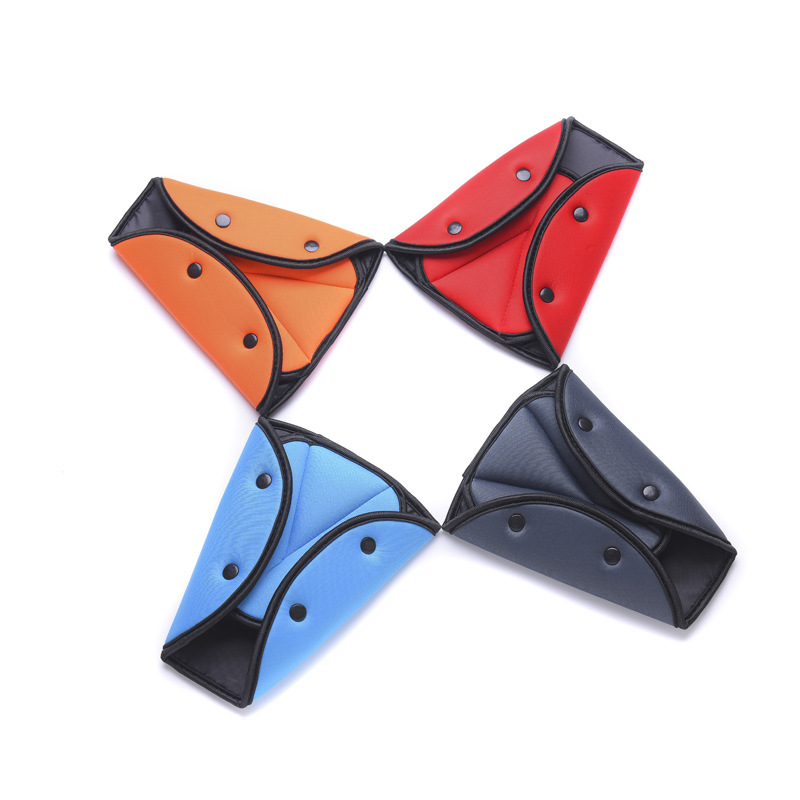 Image 2 - EAFC Car Safety Belt Cover Sturdy Adjustable Triangle Safety Seat Belt Pad Clips Baby Child Protection Car Styling Car Goods-in Seat Belts & Padding from Automobiles & Motorcycles