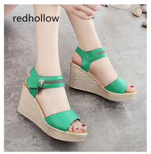 Summer Women Sandals Roman Shoes Women Sandals Peep-toe Platform Sandals Woman High Heels Sandalias Mujer Zipper Shoes