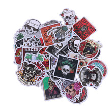 50 PCS Graffiti Skull Rock Motorfiets Stickers om DIY Scrapbooking Laptop Skateboard Koffer Gitaar Auto Punk Skelet Sticker(China)