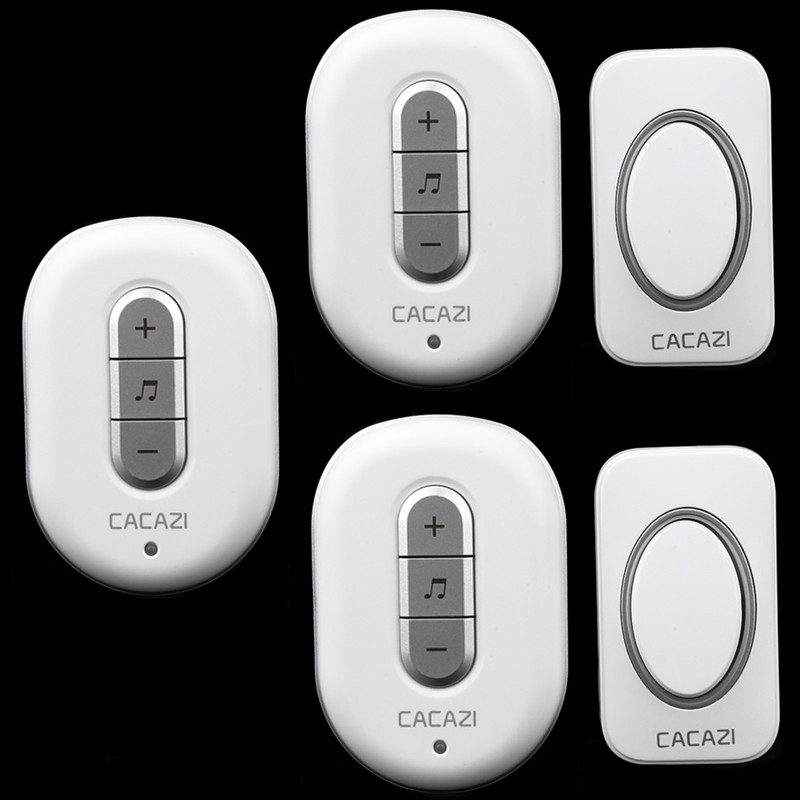 2 transmitter+3 receiver High Quality home DoorBell Waterproof 280m work range Mini Wireless Door bell 48 Ring tunes for choose  new high quality wireless waterproof door bell 36 music melody 300m doorbell 3 transmitters 3 receiver home doorbells