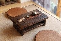 Восточный антикварная мебель дизайн японский пол чайный столик маленький размер 60*35 см Гостиная Деревянный Кофе татами низкий стол дерево