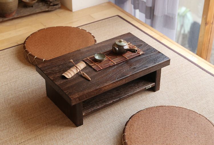Oriental Antique Furniture Design Japanese Floor Tea Table Small Rectangle Home Living Room Wooden Coffee Tatami Low Table Wood