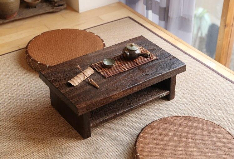 Oriental Antique Furniture Design Japanese Floor Tea Table Small Size 60 35cm Living Room Wooden