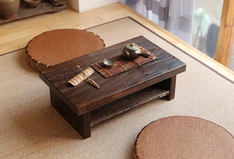 oriental antique meubles design japonais plancher table a the petit rectangle maison salon en bois cafe tatami table basse en bois