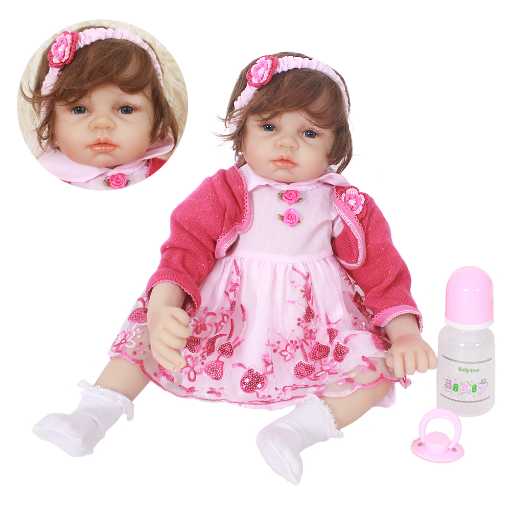 Reborn Bebe dolls 22inch 55cm soft touch silicone reborn baby dolls toys for children gift reborn