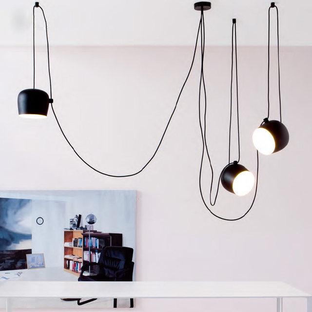 Tienda Online DIY vintage retro negro luces colgantes para comedor ...