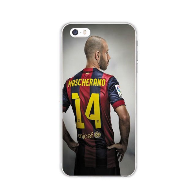 Football Club Stars Messi Neymar XAVI Jersey For IPhone7 5 5S SE 6 6S Plus Case soft Silicone slim Tpu Phone Cover