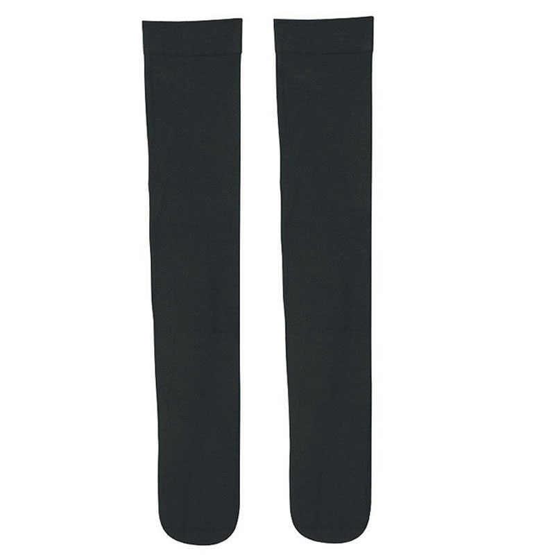 Женские высокие чулки японские школьные черные длинные бедра высокая поддержка икр удобные зимние теплые черные гетры для сапог