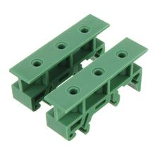 Free shipping1 pair 35mm DIN Rail Mounting Support Adapters plastic Feet for LxW<=100mm PCB or relay(China (Mainland))