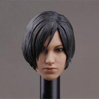 1/6 Ada Wong Head Sculpt with Short Hair For 12 Woman Figure Body