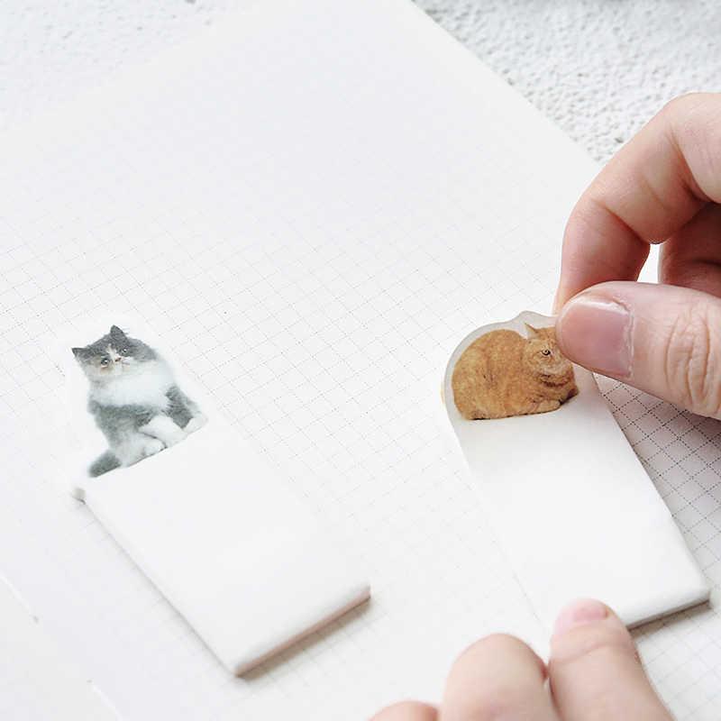 4 шт./лот Кот стикер Дневник стикеры для планов почта записной pad Закладка для книги блокнот ручной работы аксессуары для офиса школьные принадлежности EM677
