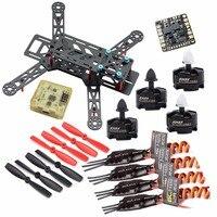 Flymodel DIY QAV280 Carbon Quadcopter Emax MT2204 2300KV Brusless Motor BLHeli 12A ESC CC3D Flight Controller