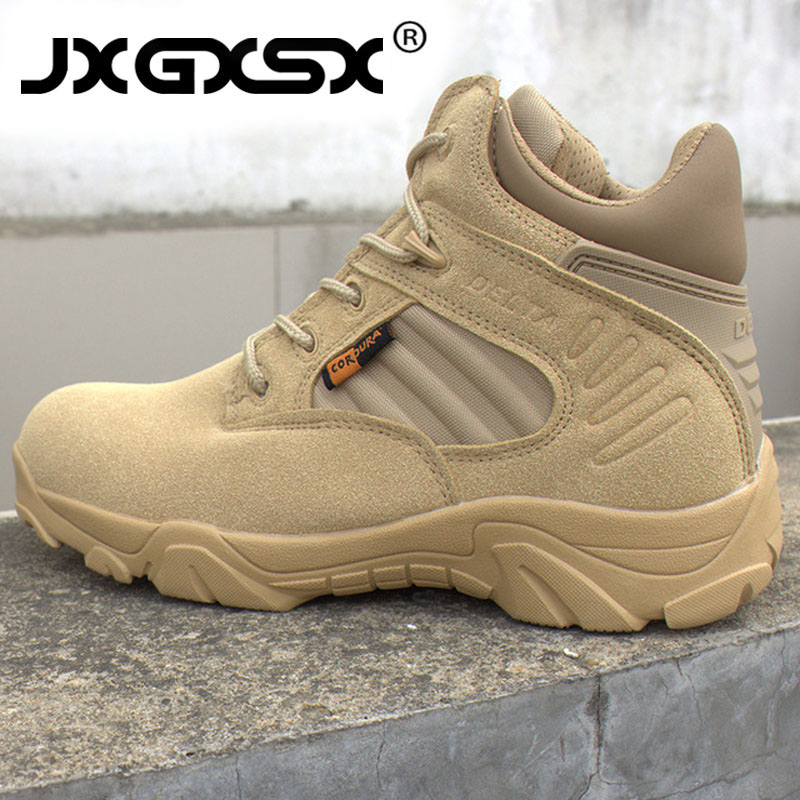 Men Delta Outdoor Sports Hiking Shoes Travel Military Assault Tactical Boots Sneakers Male Special Forces Combat Desert Boots