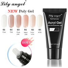 Lily Angel Acryl Gel Crystal Nail Poly 30ml UV Quick Drying Art Lacquer Jelly Extension Builder SJJ1-36