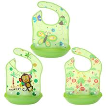Lovely Animals Printed Waterproof Silicone Bib