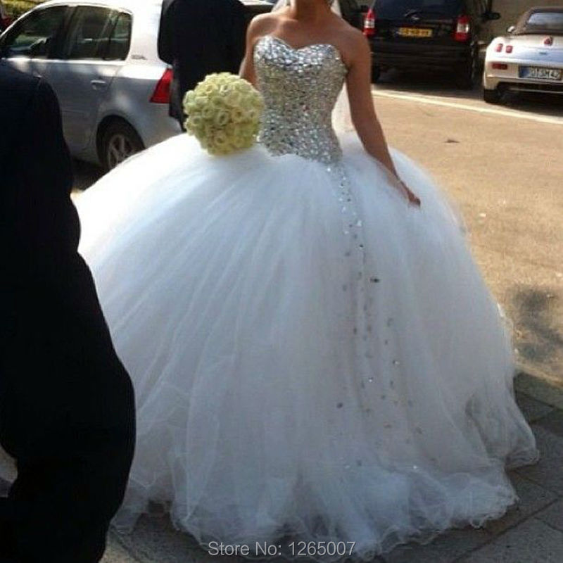 Compare Prices on Sparkly Beaded Princess Wedding Dress- Online ...