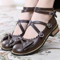 Womens Sweet Princess Buckle Ankle Cross Strap Mary Janes Lolita Cosplay Shoes as134