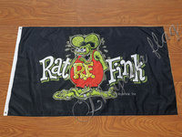 custom 90x150cm Rat Fink Flag with grommet outdoor and indoor banner flag|Flags  Banners & Accessories| |  -