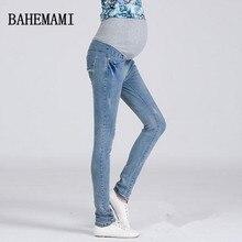 3XL Plus Size Elastic Waist 100 Cotton Maternity Jeans Pants For Pregnancy Clothes For Pregnant Women