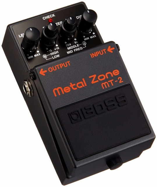 Boss Audio MT-2 Metal Zone Effects Pedal, Distortion Stompbox with 3-band EQ with Free Bonus Pedal Case