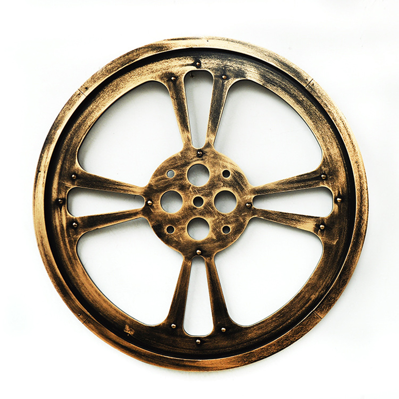 Wooden Crafts 64 Cm Round Black Gear Mural Bar Art Office Gear Wall Hangings Creative Home Decor Ornaments Decorative Home Wall