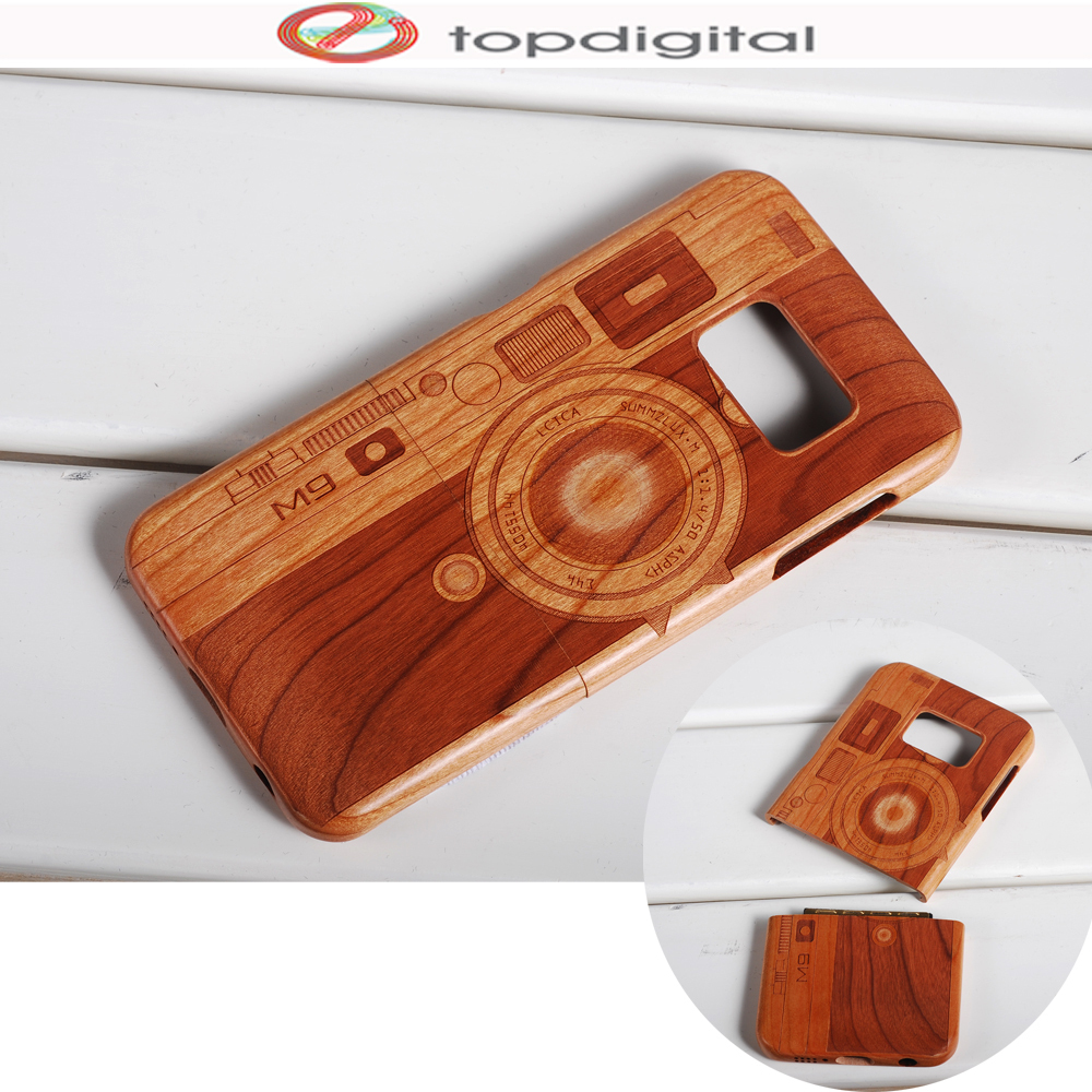 premium selection b79c0 f2c0b US $13.69 |Felidio Wooden Case S6 edge Ultra Slim Cherry Wood Case for  Samsung Galaxy S6 S6 edge Hard Back Cover Case Handmade Carving-in Fitted  Cases ...