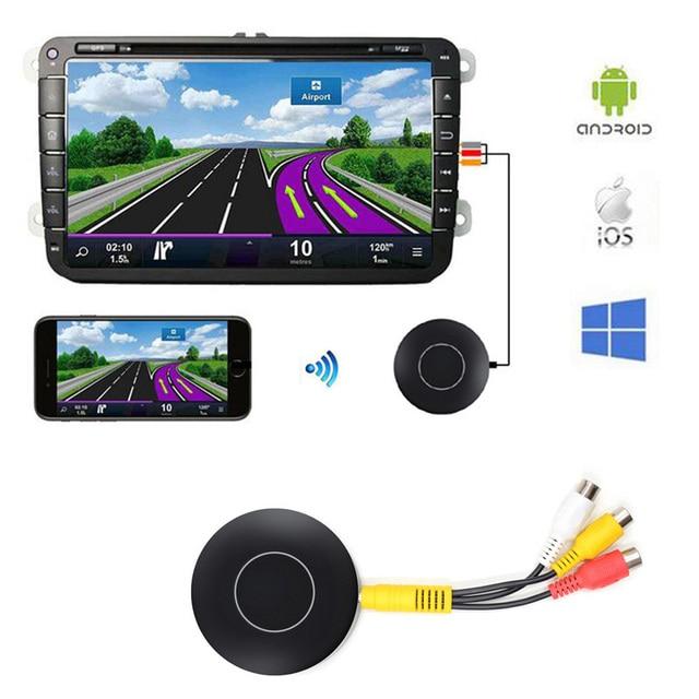 Car Auto Media DLNA Miracast Airplay Screen Mirroring Dongle TV Stick Digital Wireless HDMI AV RCA Output Video Streamer Display