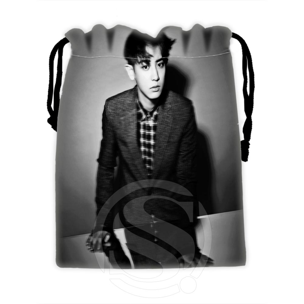 Hot Sale Custom EXO #4 Drawstring Bags For Mobile Phone Tablet PC Packaging Gift Bags18X22cm SQ00729-@H0607