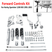 1991 2003 Forward Controls Pegs Levers Linkage Kit for Harley Sportster 1200 883 Foot Rests