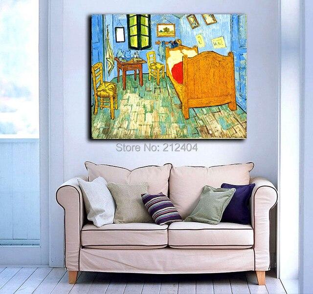Van gogh famoso olio pittura camera da letto ad arles stampe su tela senza cornice decorativa - Camera da letto van gogh ...