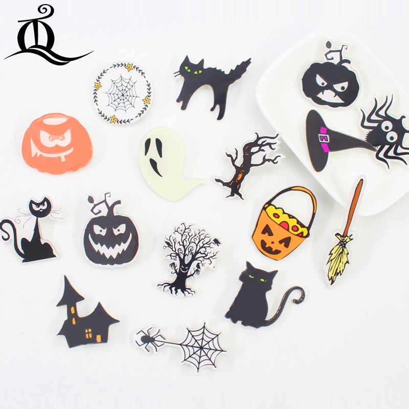Campuran Panas 1 Pcs Halloween Hitam Kartun Bros Ikon Di Ransel Akrilik Lencana Kartun Pin untuk Pakaian Dekorasi Lencana z14