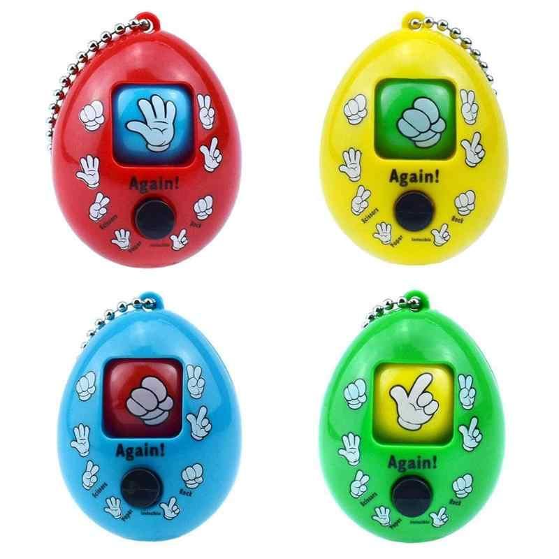 Gry rodzinne przycisk naciśnij plastikowe kamienne nożyczki zgadywanie zabawki okrągłe jajko breloczek jajka rzucane gra rodzinna zabawka dla dzieci